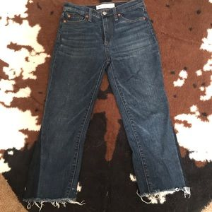 GAP high rise boot cut flare capri jeans